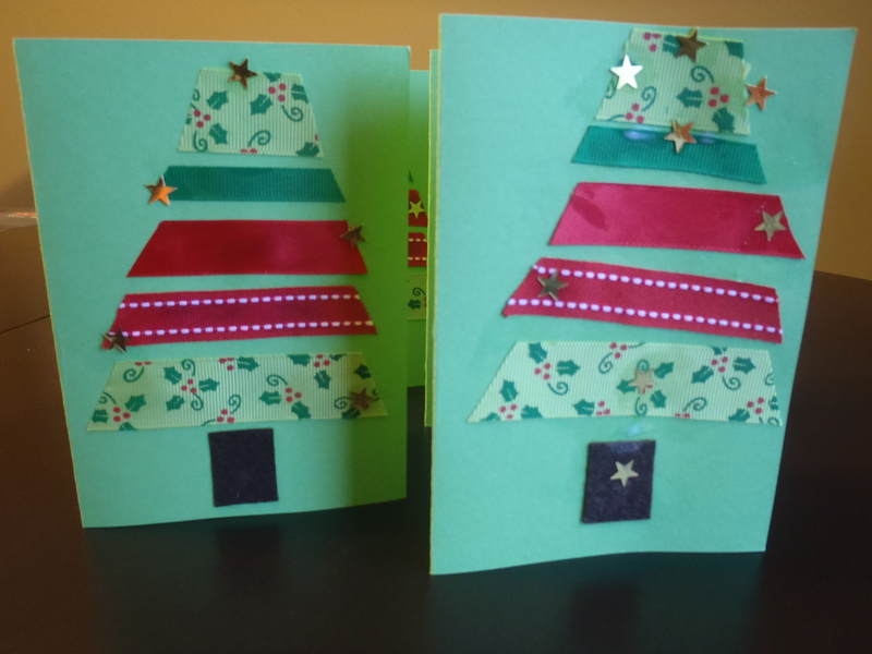 Finished card  - Ribbon Christmas Tree Cards
