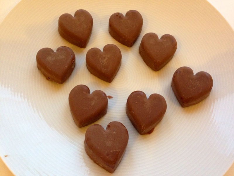 Homemade chocolates, heart chocolates, homemade Valentines chocolates, chocolate gift
