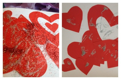 Heart, valentine, preschool, paper craft