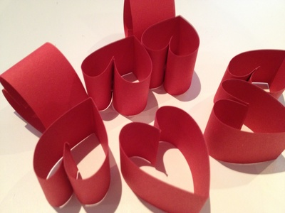 Heart, wreath, papercraft, valentines day, decoration