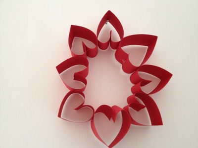 Heat, valentine, wreath, paper craft