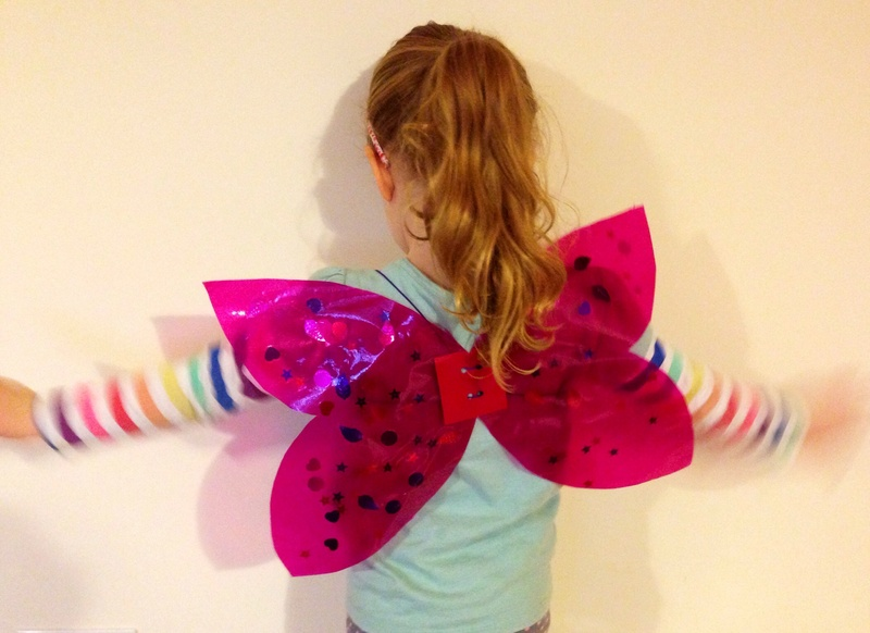 How to make butterfly wings, fairy wings, angel wings, ladybird wings  - Dress Up Butterfly Wings