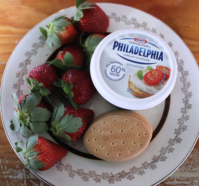 Strawberry, fish, biscuits  - Something Fishy