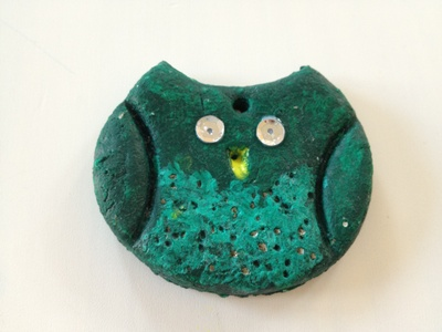 Owl, salt dough, bird