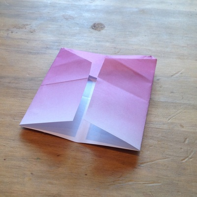 Pink, paper, heart, origami