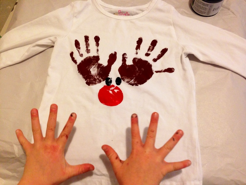 Potato print, reindeer nose potato, potato