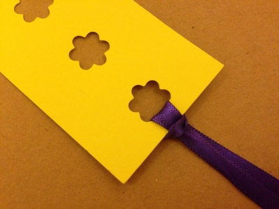 Craft punch, homemade bookmarks with craft punch