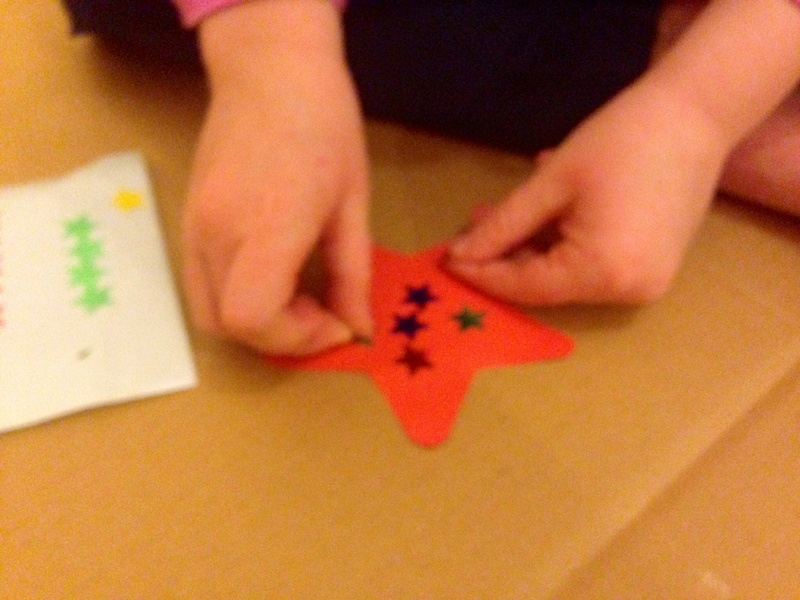 Cookie cutter star  - Quick and Easy Star Card