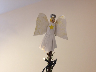 Angel, homemade angel, how to make an angel for Xmas tree, Christmas angel, angel peg