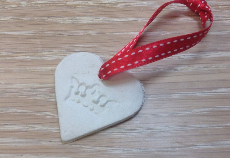 Air-dry clay Christmas decorations