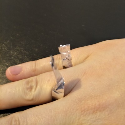 aluminium foil dress up rings