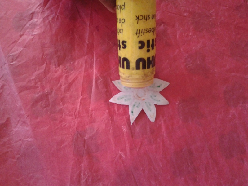 Glue and paste the edges to form a ring  - Paper Flower Ring