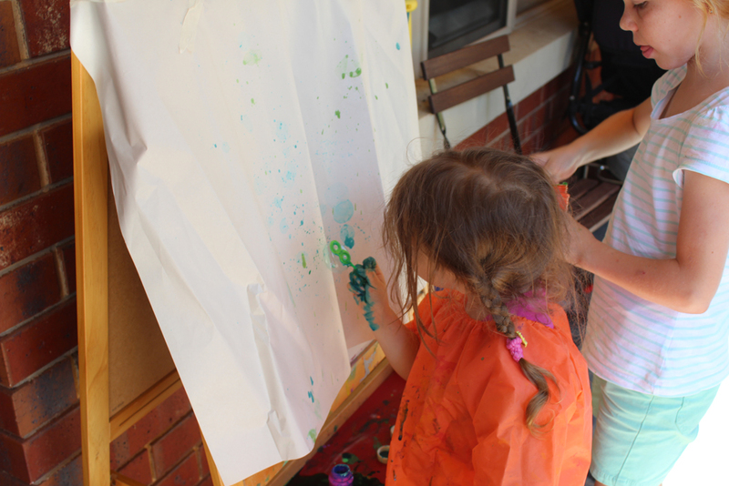 bubble painting, bubble blowing painting, blowing bubbles