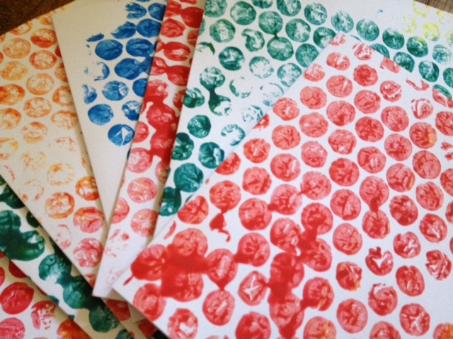 bubble wrap, print, paint, toddler, pre school, nursery, kids