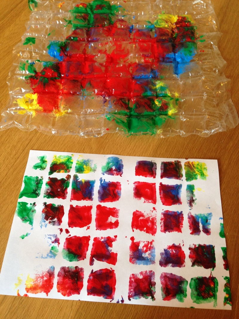 Bubble Wrap Prints My Kid Craft