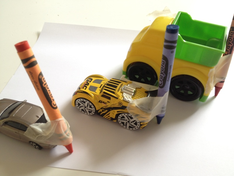 Car, crayon, preschool, art