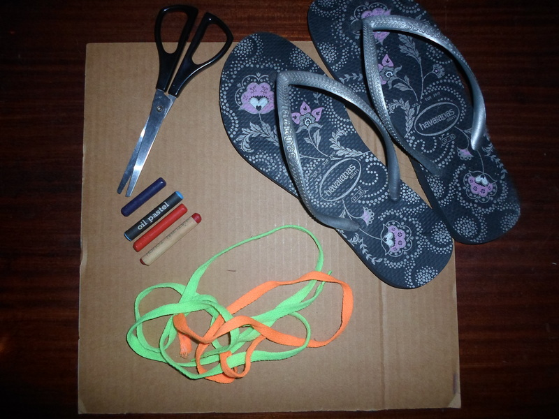 cardboard shoes with shoelaces materials