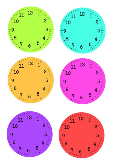 clock faces,new year activity,free printables