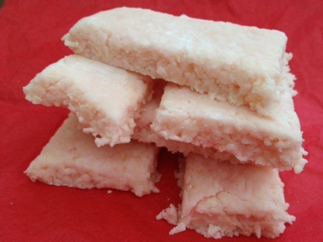 coconut ice, cooking, no bake, children, preschool, toddler, gift, present, christmas, stars, bar, mothers day, fathers day, coconut, icing sugar, fun food