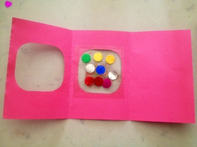 colourful window homemade greeting card kids craft