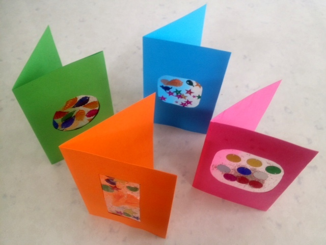 Colourful Window Greeting Card My Kid Craft