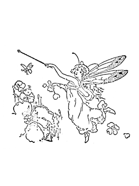 colouring page,free printable,fairy colouring page  - Fairy Colouring Pages