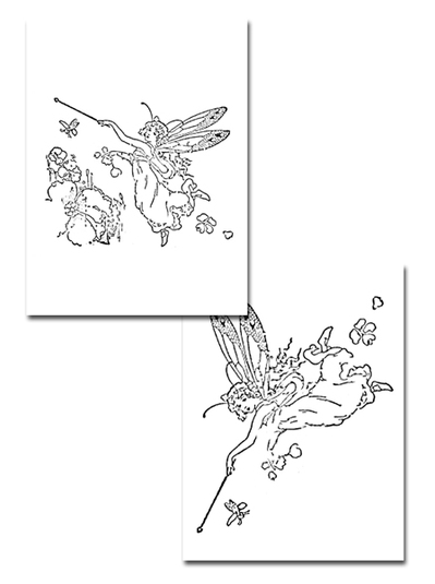 colouring page,free printable,fairy colouring page