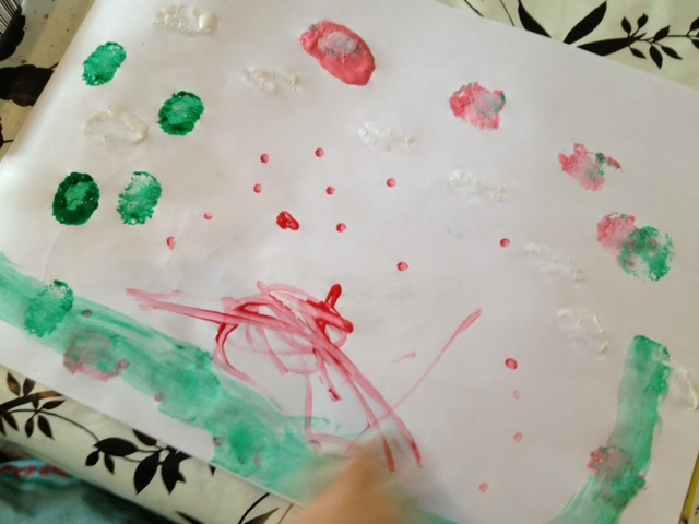 cotton bud, painting, toddler, preschool  - Cotton Bud Painting