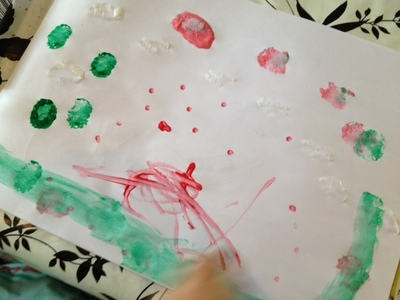 cotton bud, painting, toddler, preschool