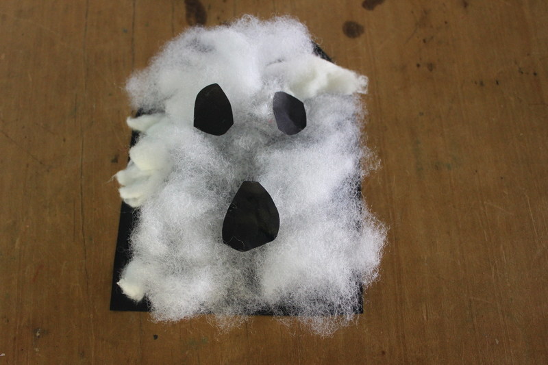 decorate your own picture frame ideas - Cotton Wool Ghost My Kid Craft