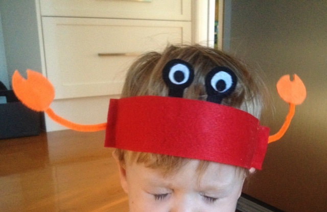 crab eye components, making a toy crab  - Snappy Crab Hat