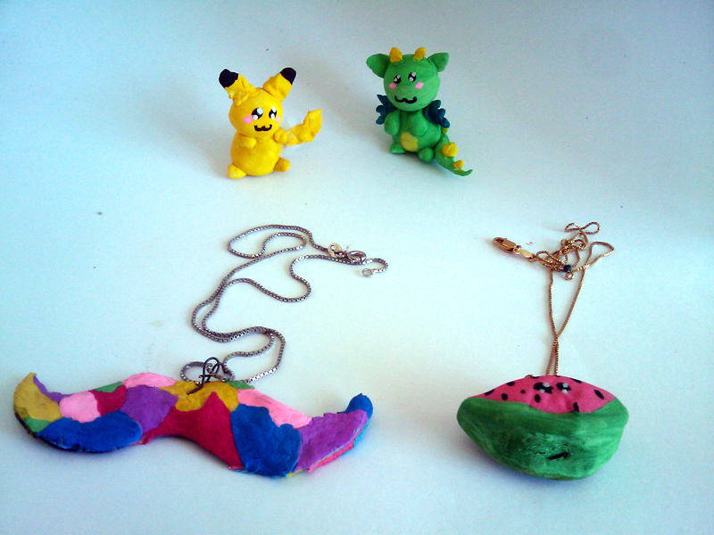 wire  - DIY Oven Baked Clay Figurines