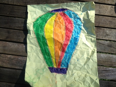 crumpled paper for paper batik hot air balloon, batik, hot air balloon picture, paper batik