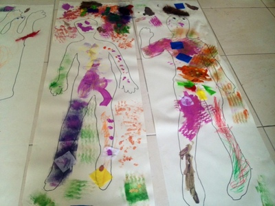 decorate your own body kids craft easy fun cheap
