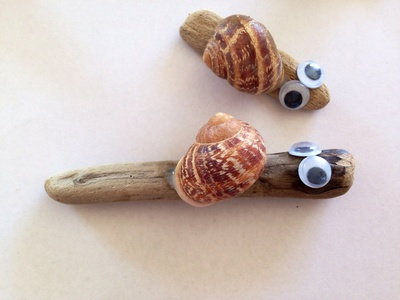 Driftwood snails, snail shell craft ideas, snail, snail craft kids, homemade snail, how to make a snail