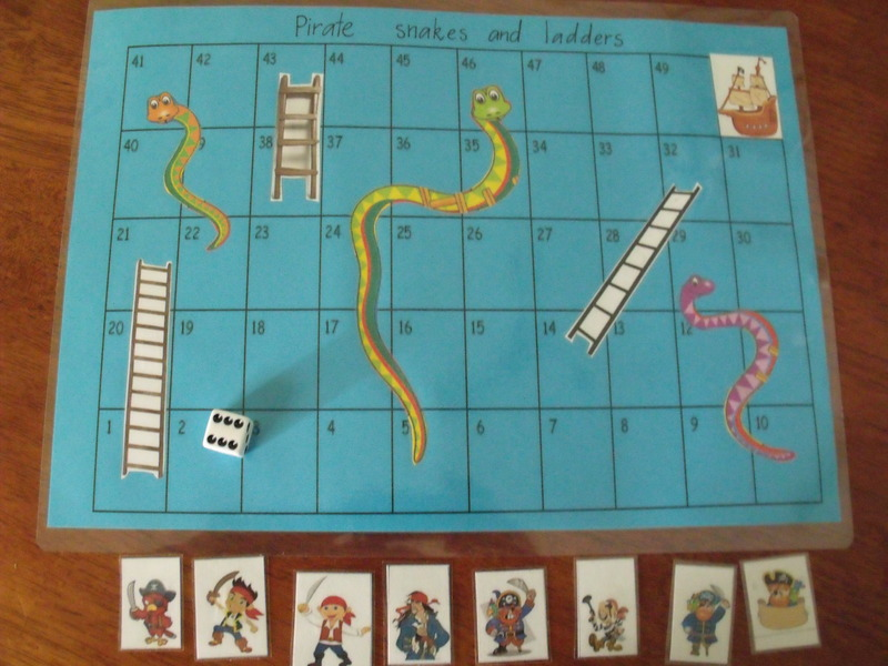 Pirate and Princess Snakes and Ladders
