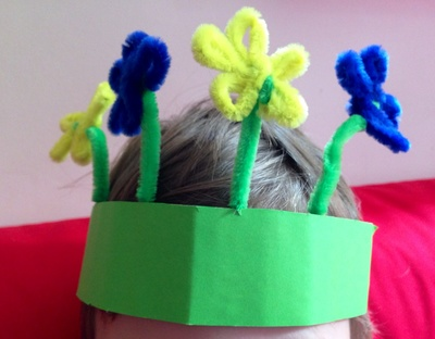 Easter bonnet, easy homemade Easter hat, Easter bonnet for toddlers
