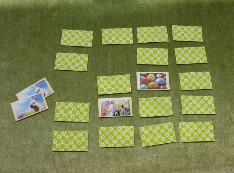 Easter memory card game matching pairs stickers  - Easter Matching Pairs