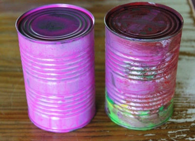 Recycled craft, recycled tins, recycled Easter decoration