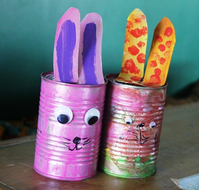Easter decorations, recycled