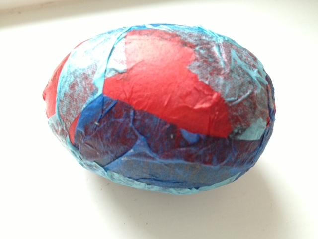 easter egg, easter, egg, tissue paper, decoration, pre school, kids, children, under 5, decopatch, craft