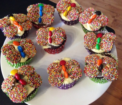 Easy butterfly cupcake