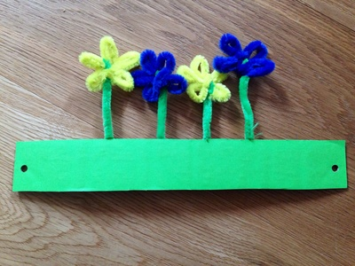 Easy Easter bonnet, easy hat for Easter parade, flower headband, kids craft Easter hat,