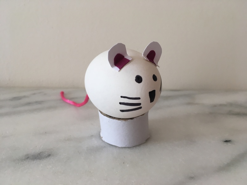 egg mouse decoration easter kids craft ideas  - Bunny and Mouse Egg Decorations
