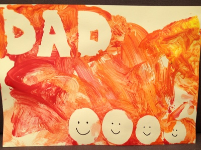 Father's Day, easy, preschool, painting
