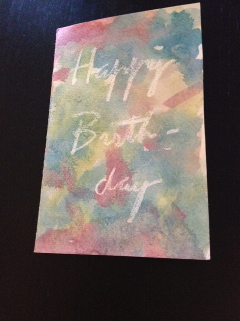 Finished birthday card  - Inspirational Quote Style Watercolour Birthday Cards