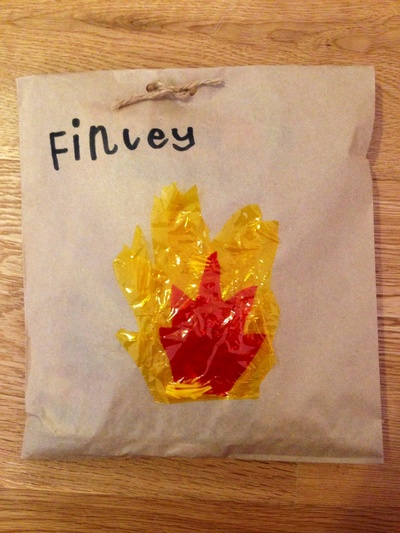 Fire and rescue party bags, fireman party bags, fire theme party bags, homemade party bags, fireman loot bags, fireman lolly bags,