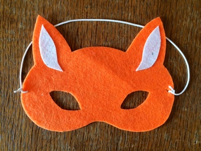 fox mask, no sew fox mask, felt fox mask, felt mask, how to make a fox costume
