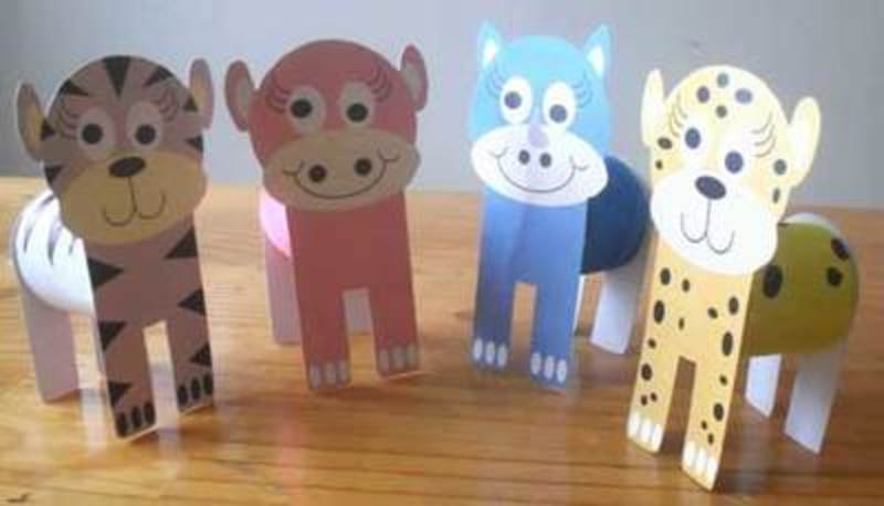 free printables,animals,cardboard tube,cats  - Printables for Easy Animal Crafts