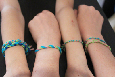 friendship bracelets, plaited bracelets, friendship braids, three strand braid